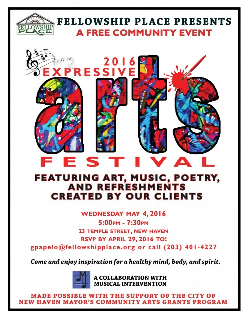 expressive arts festival may 4 2016 fellowship place new haven ct